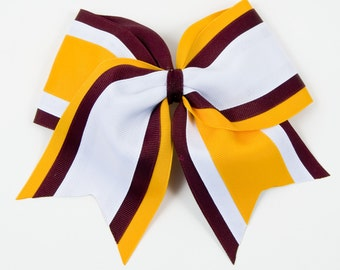 Custom Cheer Bow-Available in 27 Color Combinations-Team Cheer Bows-Cheerleading Hair Bows-Fast Shipping-Made to Last