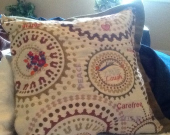 "18""x18"" Embroidered/Needlepoint Pillow~ Ships FAST & FREE!"