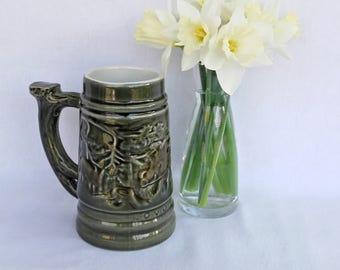 Czech  BECHYNE Pottery Beer Mug, Beer Stein