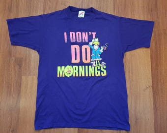 Funny shirt, vintage shirt, I don't do mornings shirt, size m