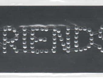 Friends Gem Rhinestone Title Scrapbook Stickers Embellishments Cardmaking Crafts Forever In Time