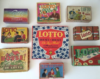 Vintage Lotto & Housey Game Boxes (Only Boxes-No Game Pieces)