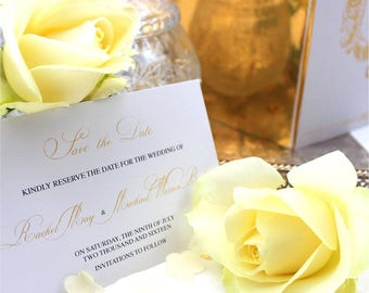 Traditional Wedding Stationery Collection - Invitation, Save the Date, Dinner Menu, Order of Service & Favour Tag PDF Files