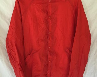 80s Red Men's Windbreaker