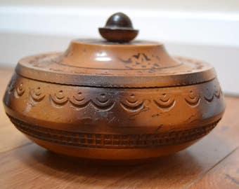 Tramp Art Style Wooden Box