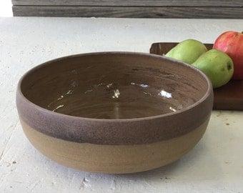 Brown bowl, Ceramic bowl, Pottery bowl, Cooking bowl, Salad bowl, Fruit bowl, Serving bowl, Rustic bowl, Large bowl, Open bowl, Baking bowl