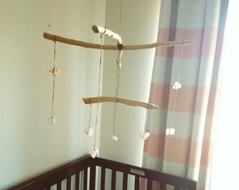 Crystal Mobile, Rose Quartz Mobile, Crystal Baby Mobile, Crystal Hanging Display