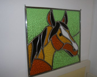 Glass in lead horse
