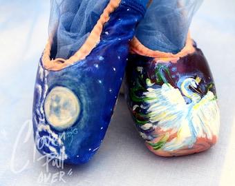 Swan Lake Ballet Shoe- Hand painted original artwork