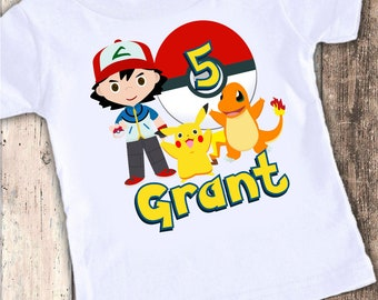 Pokemon Cuties custom designed birthday t shirt tshirt personalized