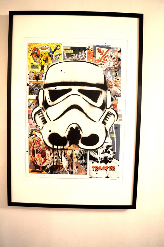 Storm Trooper Collage MixedMedia