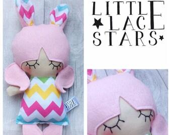 Mini doll, easter , bunny , cute, bunny ears