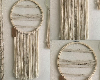 Large Dream Catcher | neutral, bohemian,  gypsy, wall hanging