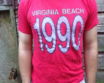 Vintage 1990 Virginia Beach T Shirt