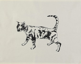 Bengal Tabby Cat Tea Towel