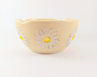 Flower Yarn Bowl - Unique Yarn Bowl  - Flower Crochet Bowl - Knitting Bowl - Yarn Bowl - Flower Yarn Bowl - Ceramic  Knitting Bowl