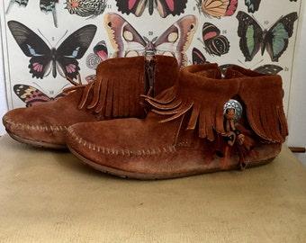 Vintage Minnetonka Moccasin Bootie