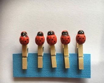 Lady Bug Peg | Mini Size | 01 | Planner Accessory