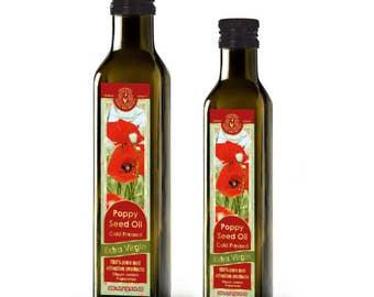 Flora Aromatics Cold Pressed Extra Virgin Poppy Seed Oil 8.45 Fl Oz/  250 Ml