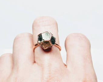 Pyrite Dodecagon Ring