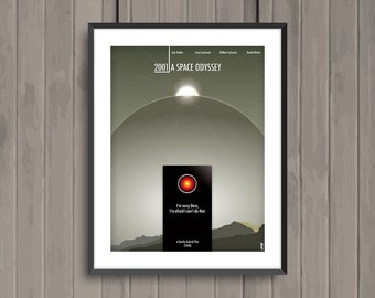 2001 A SPACE ODYSSEY, minimalist movie poster