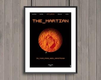 THE MARTIAN, minimalist movie poster