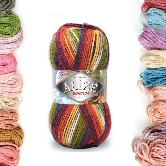 Acrylic Knitting Yarn Australia : Alize burcum Çizgi knitting yarn acrylic soft