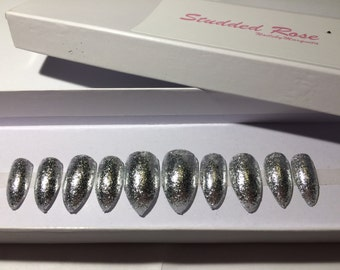 X-Factor|Glitter Nails |Custom |Designer| Press On Nails |Any Shape and Size | Fake False |Glue On Nails