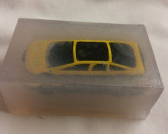 Mini car inside soap. Handmade to order.