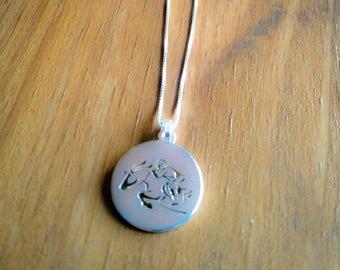 Sterling Silver Hunter/Jumper Charm Necklace