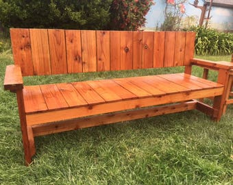 6' Old Growth Reclaimed Redwood Bench