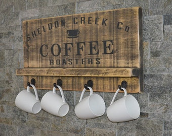 Coffee Roasters Vintage Wood Sign Painted Wooden Sign Distressed Sign Barnboard Sign Personalized Gift Kitchen Sign