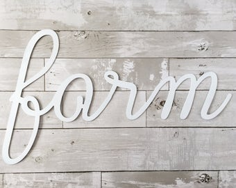 Farm Metal Sign - Metal Wall Sign - Wall Art - Farm - Metal Home Decor - Farmhouse Decor