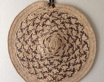 Extra Large Woven Basket Wall Hanging