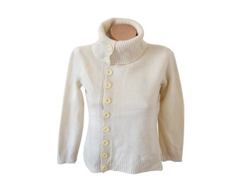 Vintage women blouse sweater top pure new wool