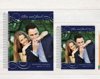Wedding Journal, Wedding notebook, custom Wedding journal, Personalized Bridal journal, Personalized journal, flourish