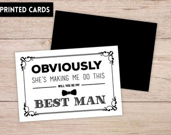 Will You Be My Best Man Card, Will You be My Best Man, Will You Be My , personalized best man, Best Man Card, obviously best man