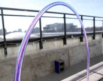 """POLYPRO Hula Hoop 3/4"""" / TRAVEL Hoop - Push-Button Collapsible / Moonbeam Color-Shifting Tape"""
