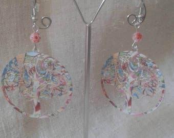 """""""multicolored tree"""" earrings"""