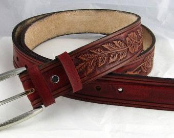 leather belt, leather hand-carved belt, Hand Tooled Leather Belt, Sheridan belt, Sheridan leather waistbelt, Hand Tooled Leather Belt, Belt