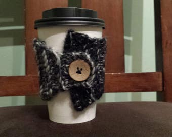Cup Cozy - Black & Cream
