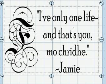 Outlander's Jamie Fraser Quote SVG