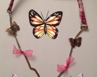 "Necklace ""fly, fly butterflies"""