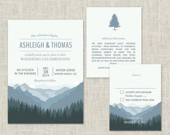 mountain invitation etsy