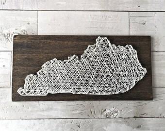 Kentucky Decor / Kentucky Wall Art / Kentucky Home / State Home Decor / String Art / Kentucky String Art