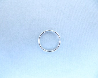 Sterling Silver Nose Ring Slim Nose Hoop Thin Nose Ring - Thin Nose Hoop Nose Piercing