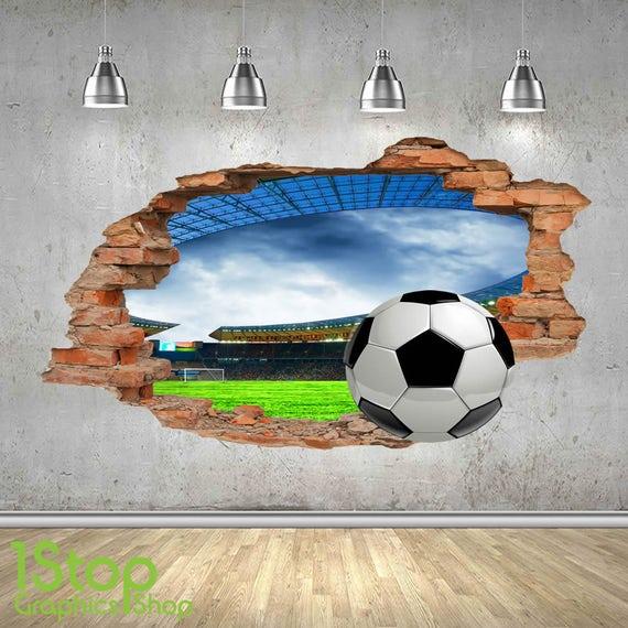 Wandtattoo fu ballstadion reuniecollegenoetsele for Fussballtor kinderzimmer
