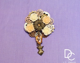 Large Steampunk Hair clips