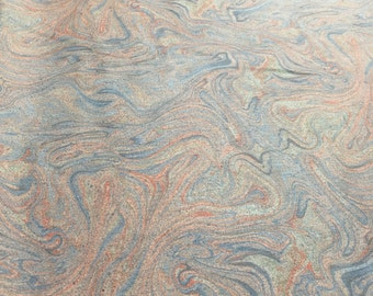 Vintage liquid swirl pastel - psychedelic fabric from the 1970s
