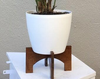 Modern Wood Planter Stand